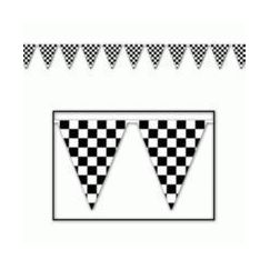 Checkered Flag Banner - 36.5mtrs