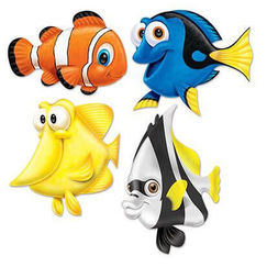 Under The Sea Fish Cut-outs - pk4