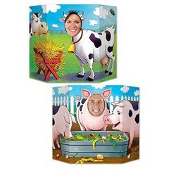 Double Sided Farm Animals Photo Op Prop