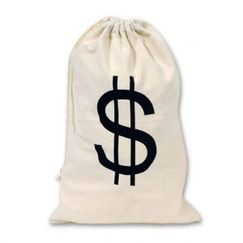 Large Drawstring Money Bag - Each
