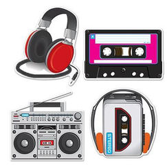 80's Music Cut-outs - pk4