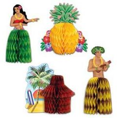 Mini Luau Centrepieces - pk4
