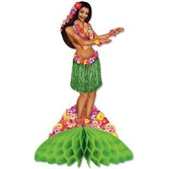 Hula Girl Table Centrepiece