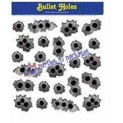 Bullet Holes Cling Ons