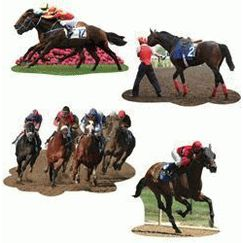 Horse Racing Cut-outs