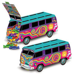 Hippie Kombie Bus Centrepiece or Favour Box