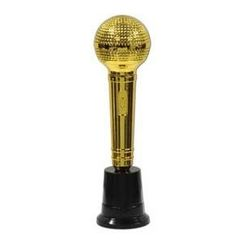 Gold Microphone Trophy - Each