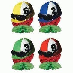 Mini Jockey Helmet Centrepieces - pk4