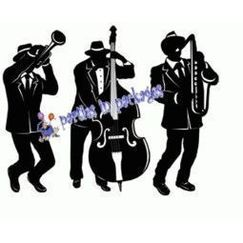 Jazz Trio Musicians Cut-outs