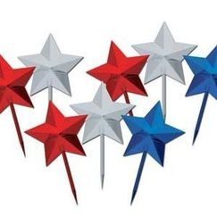 Red Silver Blue Star Picks - pk8