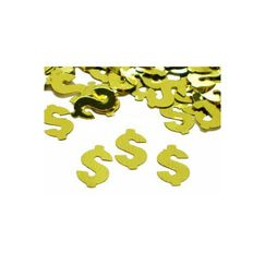 Gold Dollar Sign Scatter