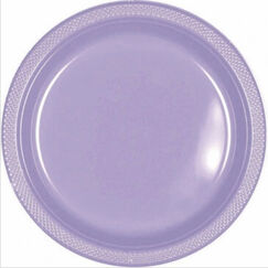 Lilac Plastic Snack Plates - pk20