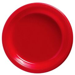 Apple Red Plastic Snack Plates - pk20