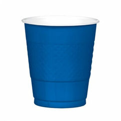 Bright Royal Blue Plastic Cups - pk20