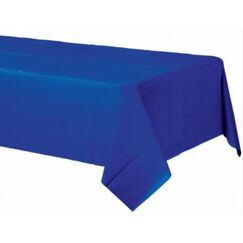Bright Royal Blue Plastic Tablecloth