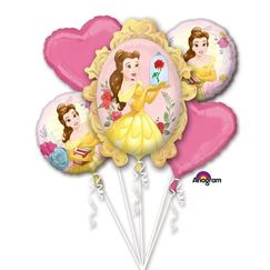Beauty And The Beast Balloon Bouquet (flat) - pk5