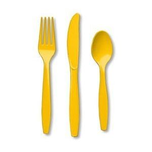 Yellow Premium Cutlery for 8