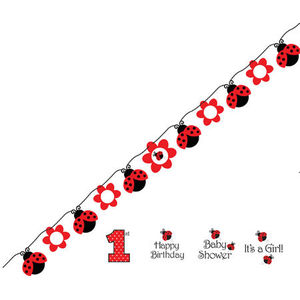 Ladybug Ribbon Banner - Interchangeable occasions