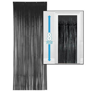 Metallic Black Curtain