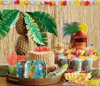 tropical themed party supplies decorations delivery australia