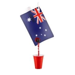 Australian Flag Party Flask