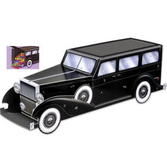 1920's Gangster Car 3D Centrepiece or Favour Box