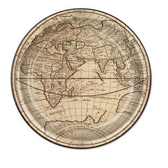 Large Around The World Plates - pk8
