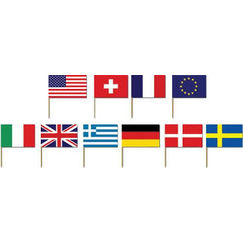 International Flag Picks - pk50