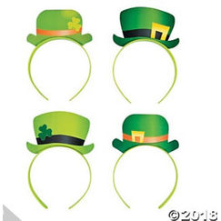 Leprechaun Hat Headbands - pk12