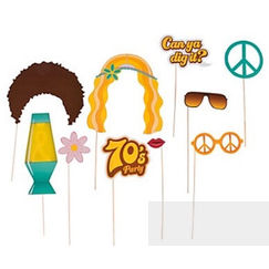 1970's Disco Photo Stick Props - pk12