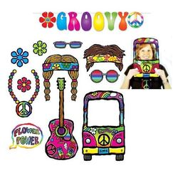 60's Photo Props AND Groovy Banner - Kit