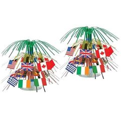 International Flags Centrepiece - Kit of 2