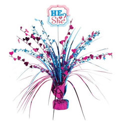 He Or She ? Gender Reveal Centrepiece