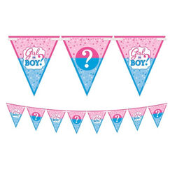Girl or Boy ? Gender Reveal Flag Banner