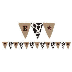 Large Western Yeehaw Flag Banner (3.65mtrs)