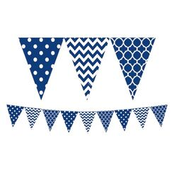 Royal Blue And White Flag Banner (3.6mtrs)