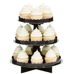 Black 3-tier Cupcake Stand