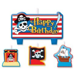 Pirate Birthday Mini Candles - pk4