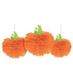 Hanging Fluffy Pumpkins - pk3