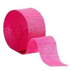 Hot Pink Crepe Streamer