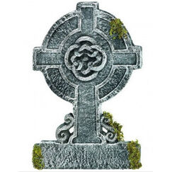 Mossy Celtic Cross Tombstone (56cm)