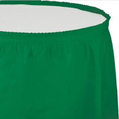 Emerald Green Plastic Table Skirt