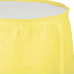 Mimosa Yellow Plastic Table Skirt