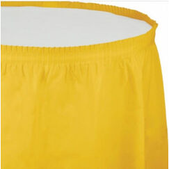 Yellow Plastic Table Skirt