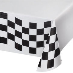 Checkered Flag Paper Tablecloth
