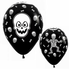 Skeletons On Black Balloons - pk12