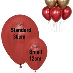 Red Small 12cm Reflex Balloons - pk50