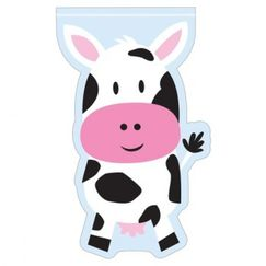 Farmhouse Fun Cow Cello Treat Bags - pk12