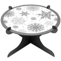 Snowflakes Cake Stand
