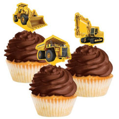 Construction Cupcake Topper Picks - pk12